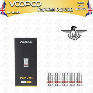 VOOPOO PNP-VM4 MESH COILS 0.6 OHM FOR Vinci / Vinci R / Vinci X – PACK OF 5
