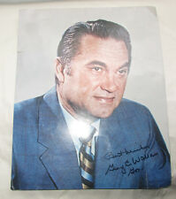 Vintage Signed Photographed George C Wallace Governor of State of Alabama