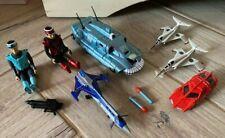 More details for bundle of captain scarlet toys (captain blue, spv, jet, patrol car) - vgc