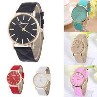 Women's Fashion PU Leather Band Watch Ladies Simple Analog Quartz Wristwatch