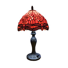 New TIFFANY Antique Style Hand Crafted Table Lamp Multi Colour Bed/Living Room