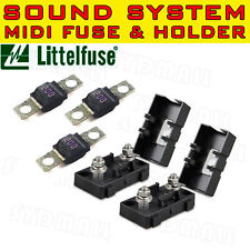 3PCS MIDI BOLT FUSES 200AMP + 2 HOLDERS FOR DUAL BATTERY AND MEGA SOUND SYSTEM
