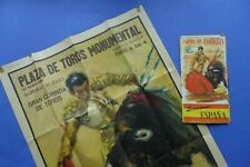 AFFICHE CORRIDA PLAZA DE TOROS - MONUMENTAL 1961