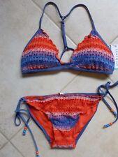 02797dc7e49f7b Seafolly Bikini AU 10 Havana Stripe Action Back Tri Top   Tie Side Hipster   190