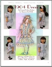 """1904 Dress"" Fashion Pattern for American Girl dolls Nelly, Samantha, and others"