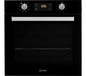 New INDESIT Aria IFW 6340 BL Electric Oven - Black