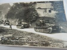 More details for redesdale   tanks   military    original  postcard   real photo  northumberland