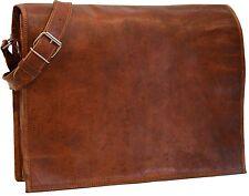 """New 15"""" Men's Genuine Vintage Leather Messenger Shoulder Laptop Bag handmade"""