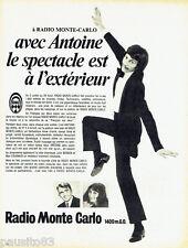 PUBLICITE ADVERTISING 125  1970  RADIO MONTE-CARLO Antoine Max Fournier J BERGEN