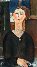 Antonia by Amedeo Modigliani 75cm x 42.4cm High Quality Canvas Art Print