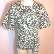 NWOT $790 Marni Short-Sleeve Graphic Floral Italian Cotton Print Top IT 40 US 4