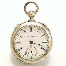 Antique Elgin Pocket Watch 7-Jewel Porcelain Dial CA1886