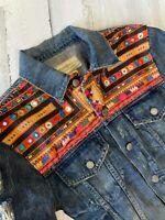 NWT Vintage Ralph Lauren Denim Supply Denim Jacket Aztec Tribal Size S XS