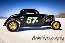 Three Hot Rod Poster Set,12x18in. Vintage 1934 Ford Garage Decor Man Cave Art