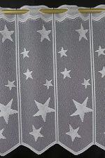 m/€ 9,17 Scheibengardine Gardine Bistrogardine 021/565 45 cm hoch Stern Sterne