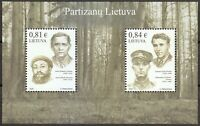 Lithuania 2020 MNH souvenir sheet of 2 stamps Guerrilla warfare.Partisans. Luxus
