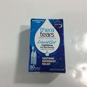 Thera Tears Nighttime Dry Eye Therapy Lubricant Eye Gel 30 Sterile Single Vials