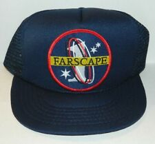 Farscape Tv Series Name Logo Embroidered Patch on a Blue Baseball Cap Hat New