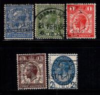 Großbritannien 1912-29 Gestempelt 80% George V.