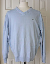 LACOSTE Baby Blue V-Neck Pull Over Sweater Womens Size 8