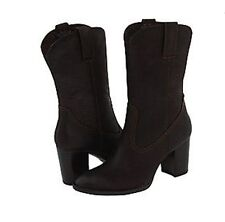 NWT Born Allegra Pull On Leather Boot Dark Brown Size 10 Womens