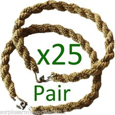 25 Pairs Trouser Twisters Army Twists Coyote MTP Twisties Hiking Military Spec