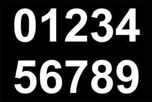 Football Numbers For Tops or Shorts / Iron / Heatpress Pack Of 5 x 1½ in WHITE