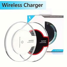 Clear Qi Wireless Fast Charger Charging Pad iPhone X 8 Samsung Galaxy Note 8 S8