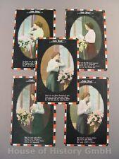 114237, Patriotische Postkarten, Serie SEIN BRIEF. 5 Karten, gelaufen LIR 7