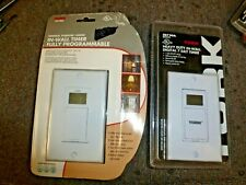 Tork Ss720A - 24 Hr or 7 Day Digital In-Wall Timer - White w/battery backup
