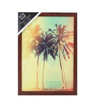 A4 Dark Wood Photo Frame Portrait Or Landscape Hang Or Stand 21cm x 29.7cm