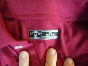 Golf Callaway Mens Maroon Short Sleeve Golf Shirt Size XXL New With Tags