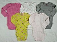 Simple Joys by Carter's Baby Girls 5-Pack  long Sleeve Bodysuits Size 12 months