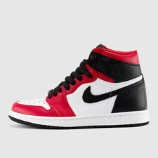 Nike Air Jordan Retro 1 High OG Satin Snake Skin Chicago Red CD0461-601 Womens W