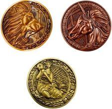 Resident Evil Medallions - Lion, Maiden & Unicorn Bundle | Licensed Replicas New