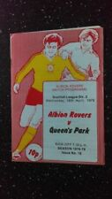 Albion Home Team Football Scottish Fixtures (1970s)