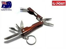 Mini Multi Tool Plier with LED torch Keychain 6 in 1 Foldable