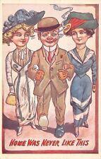 Dandy Man~Ladies on Each Arm~Home Never Like This~Skinny Art Deco Dresses~Emboss
