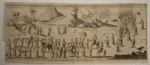 CHINA CHINESE CORTEGE 1700 GIOVANNI GEMELLI CARERI UNUSUAL ANTIQUE ORIGINAL VIEW