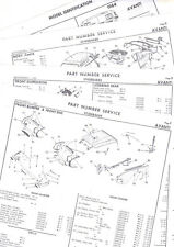 STUDEBAKER AVANTI BODY PARTS & PART NUMBERS LIST CRASH SHEETS! RE