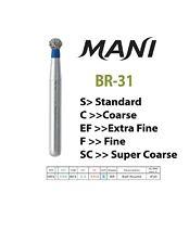 5pc Dental Diamond Bur Ball Round Original Mani Free Shipping Over 30 From Usa
