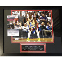 Framed Dwyane Wade Miami Heat Signed 8x10 Photo JSA COA