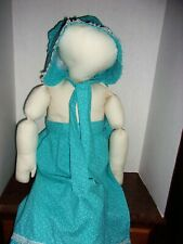 "36"" Stuffed Soft Mannequin + Laura Ingalls Wilder Memorial Society Bonnet&Apron"
