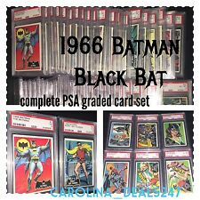 1966 Batman Black Bat Complete Set All PSA Graded Cards 1-55