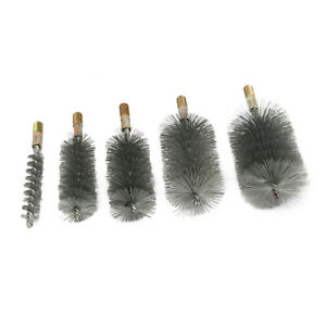 18mm-75mm Cylinder Steel Wire Round Tube Pipe Cleaning Brush Polishing Tool 1Pcs