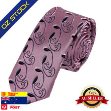 Pink Pattern Mens Fashion Silk Skinny Tie Evening Gift Idea Epoint PS1060