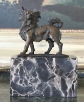 Toy Chihuahua Dog Bronze Marble Statue Sculpture Figurine Art Gift Bookend