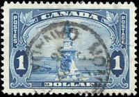 Used Canada $1.00 VF 1935 Scott #227 King George V Pictorial Stamp