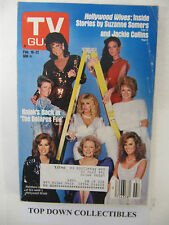 TV Guide   Feb 16-22 1985 Real Hollywood Wives/Telly Savalas-Kojak
