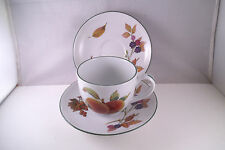 Lovely Royal Worcester England Evesham Vale Set of 1 Cup & 2 Saucers